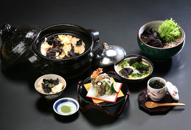 海産物松村の商品を使用した料理です。